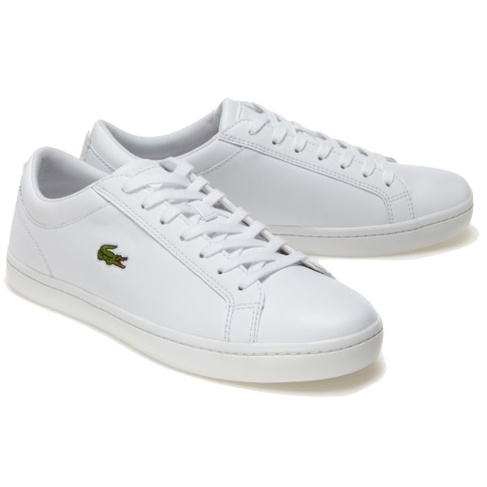 Straightset White Leather Sneakers