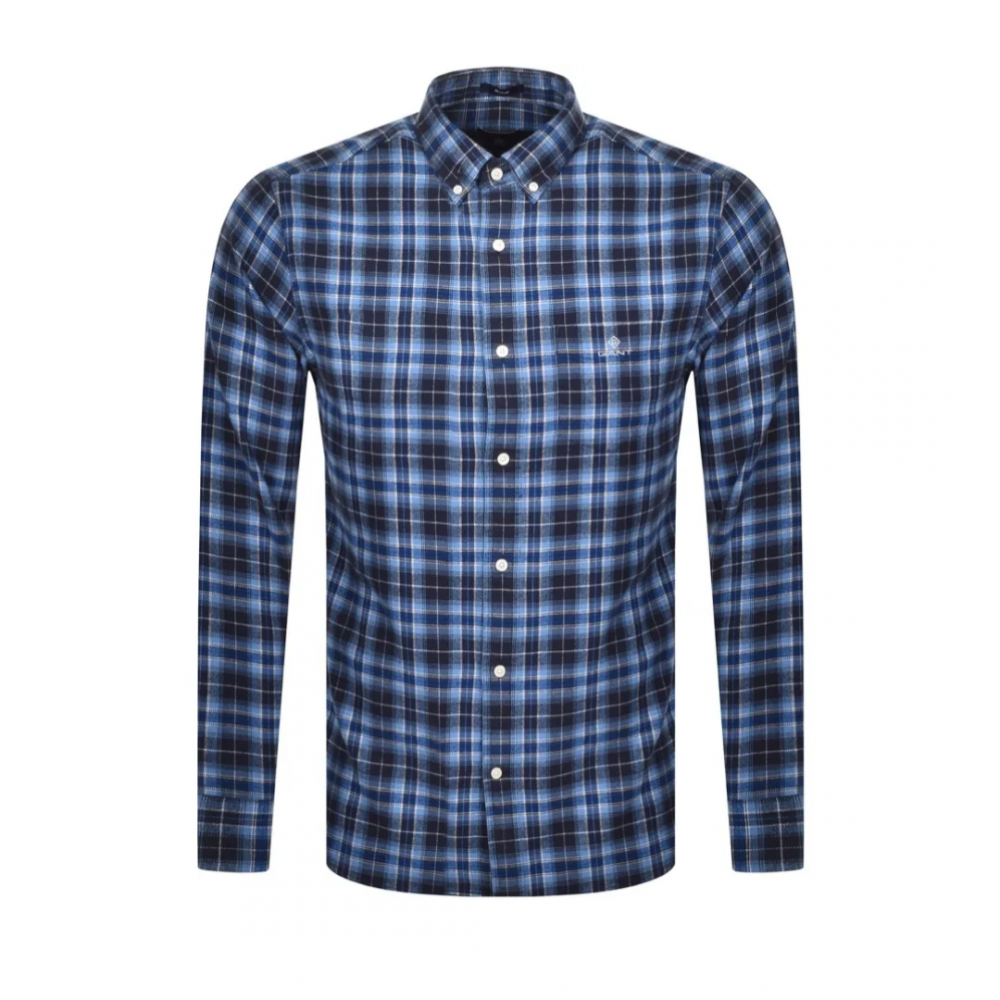 Flannel Check Shirt Persian Blue