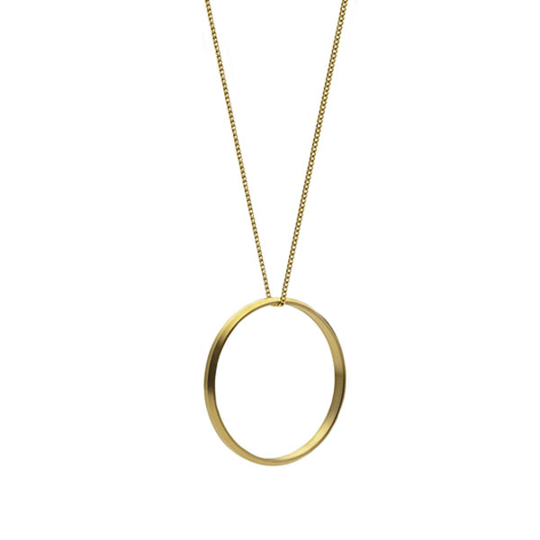 Icon Necklace Large Ring 40mm Gold plated Skultuna