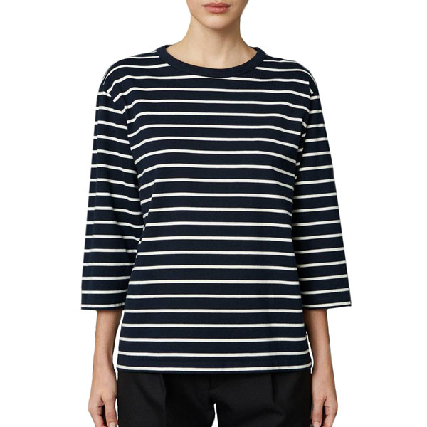 Hit Tee Navy Stripe