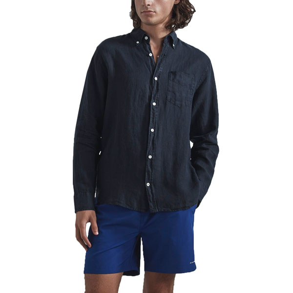 Levon Linen Shirt 5706 Dark Navy