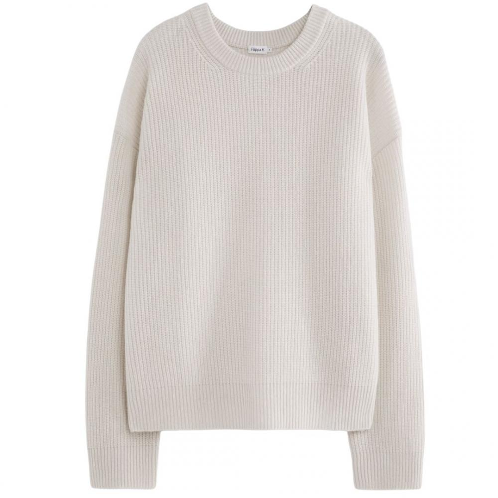Maddox Sweater White Chalk