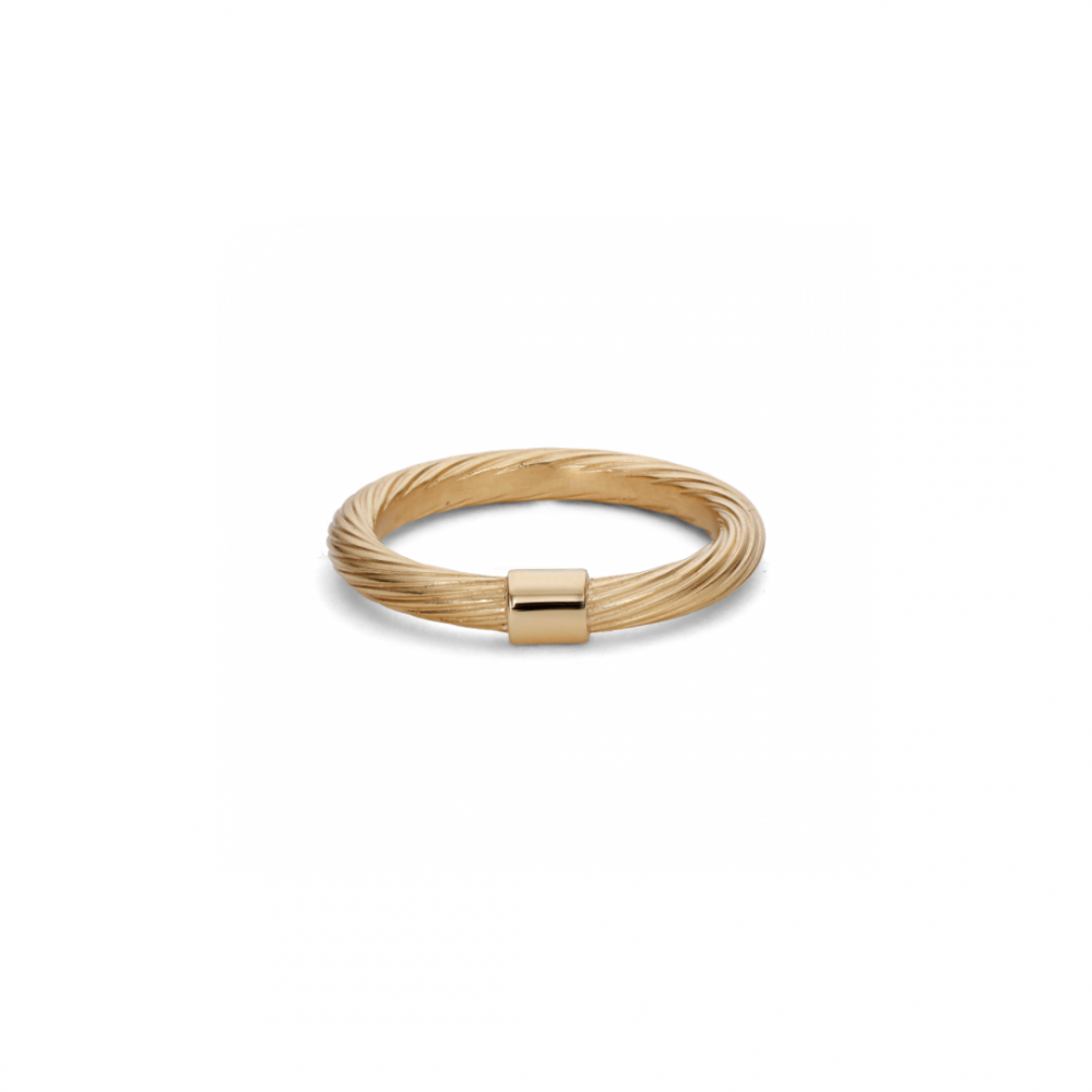 Medium Salon Ring Gold plated