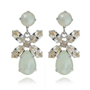 Mini Dione Earrings Powder Green Rhodium Caroline Svedbom