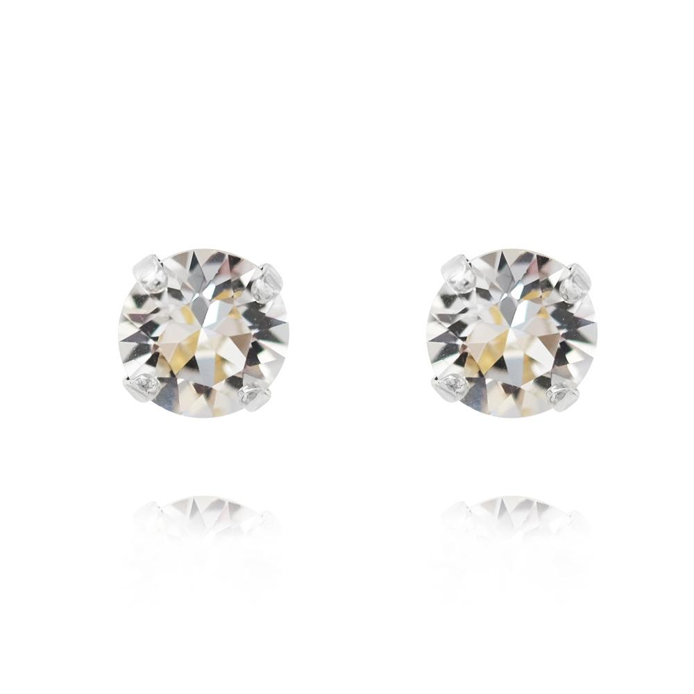Classic Stud Earrings Crystal Silver