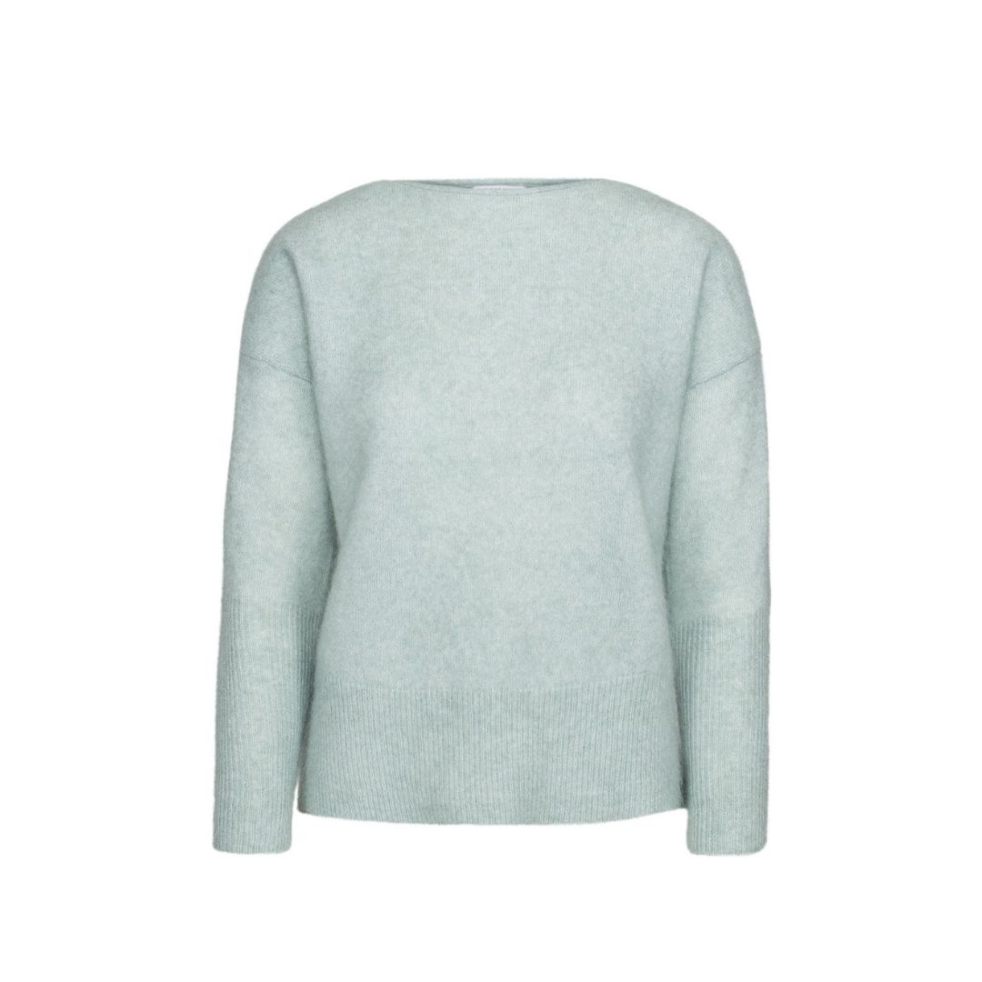 Soft Wide Crewneck Feather Blue Mint