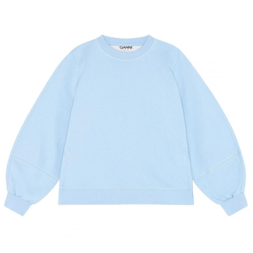 Puff Sleeve Sweatshirt Heather Blue