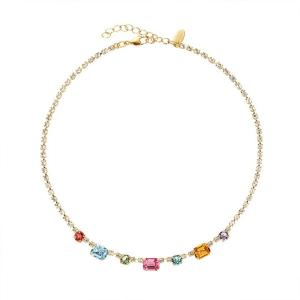 Corinna Necklace Gold Rainbow Combo