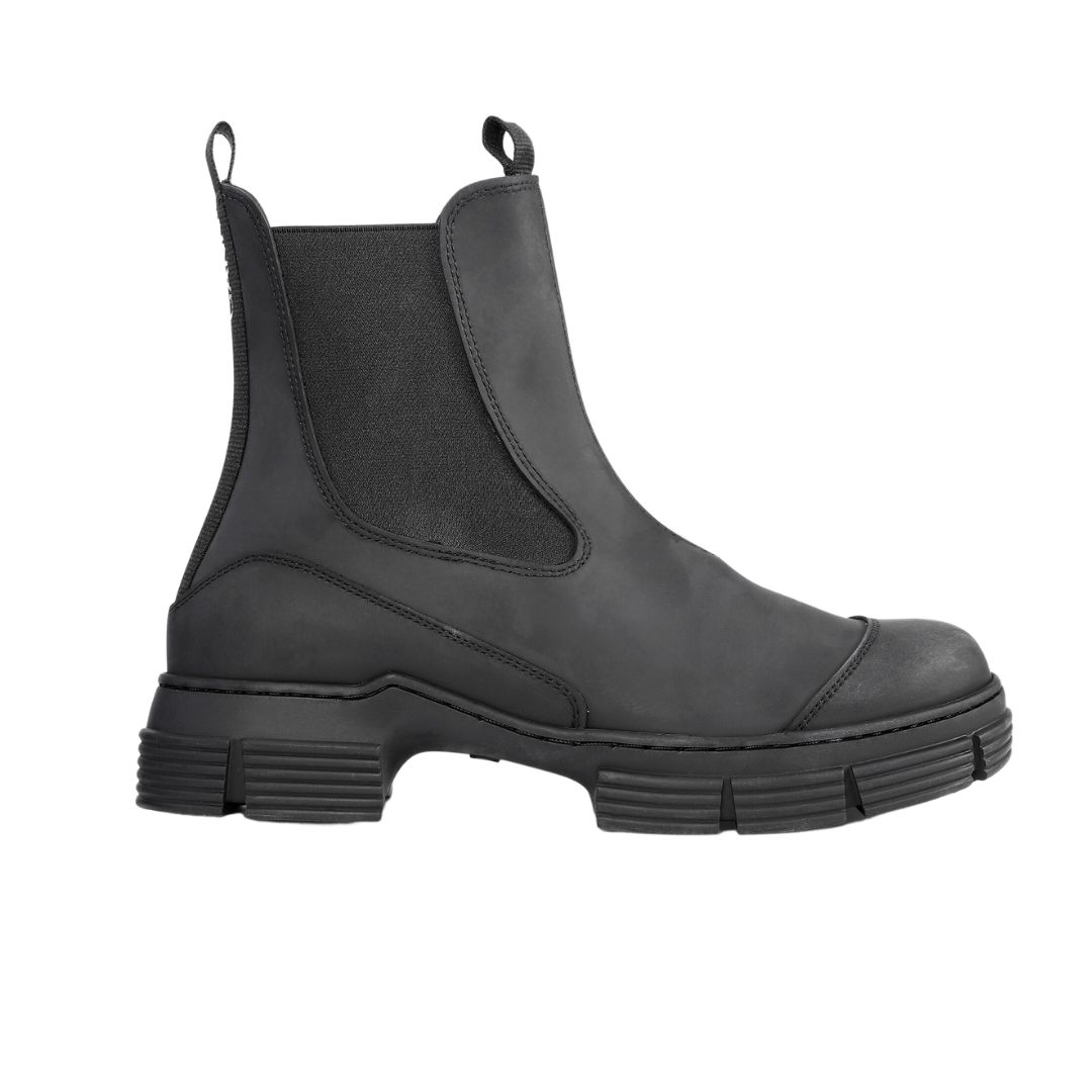 City Boot Recycled Rubber Black