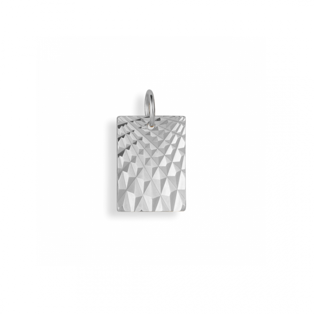 Reflection Square Pendant Sterling SIlver
