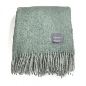 Mohairpläd Sea Foam & Green Bay Melange