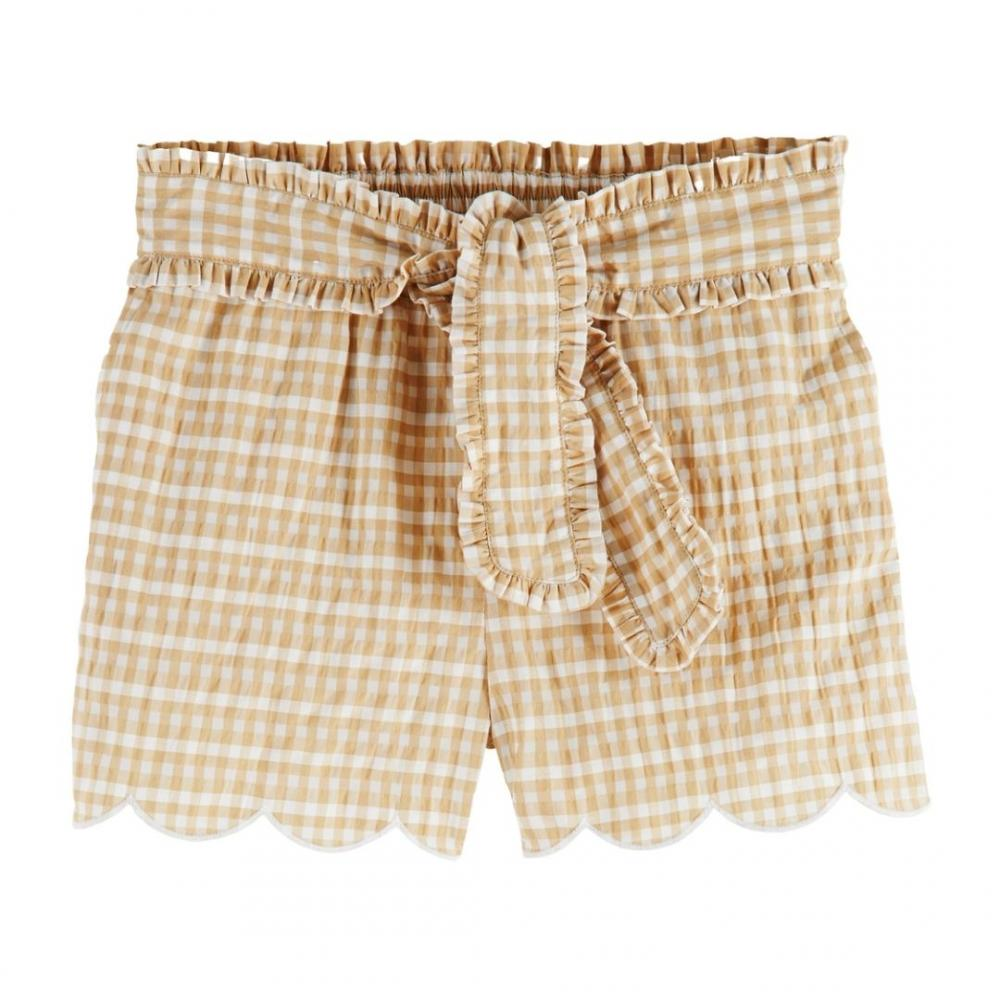Shorts with bow Beige/ White