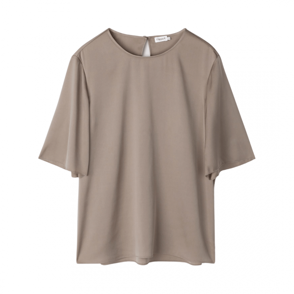 Silk Tee Grey Taupe