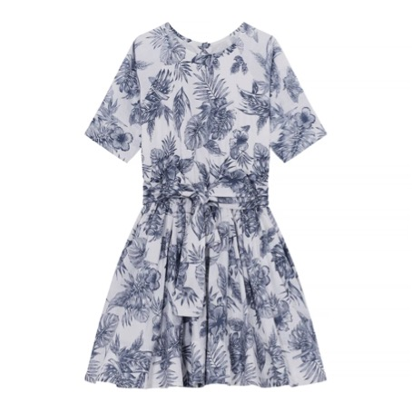 Siona Dress Palms White