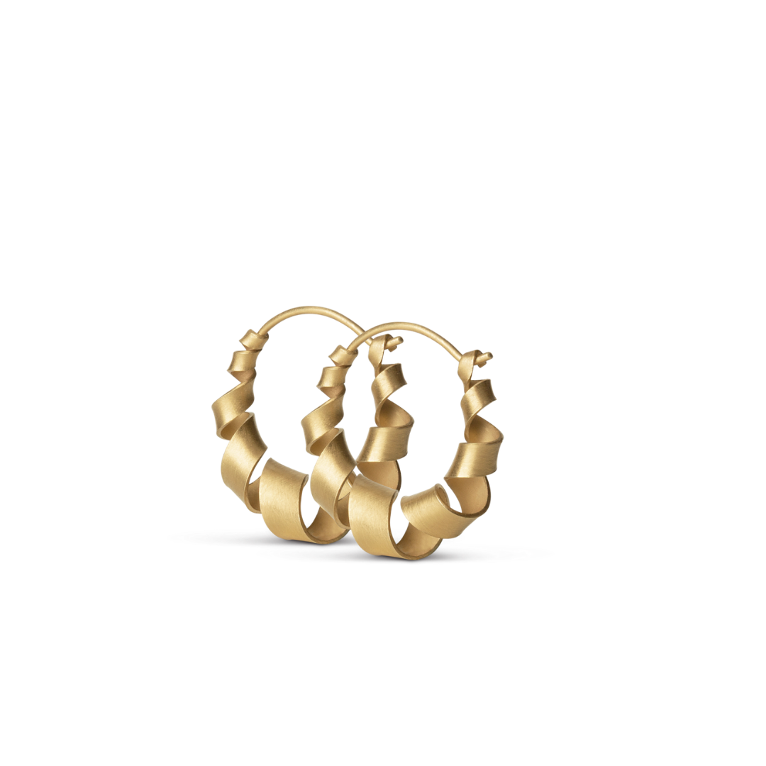 Small Curly Hoops Goldplated