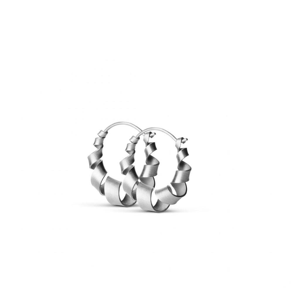 Small Curly Hoops Sterling Silver