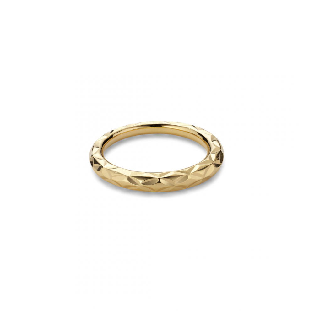 Small Impression Ring Goldplated Silver