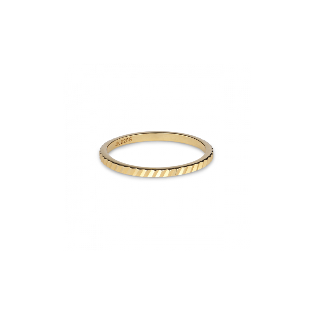 Small Reflection Ring Goldplated
