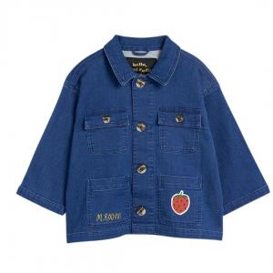 Denim Strawberry Safari Jacket