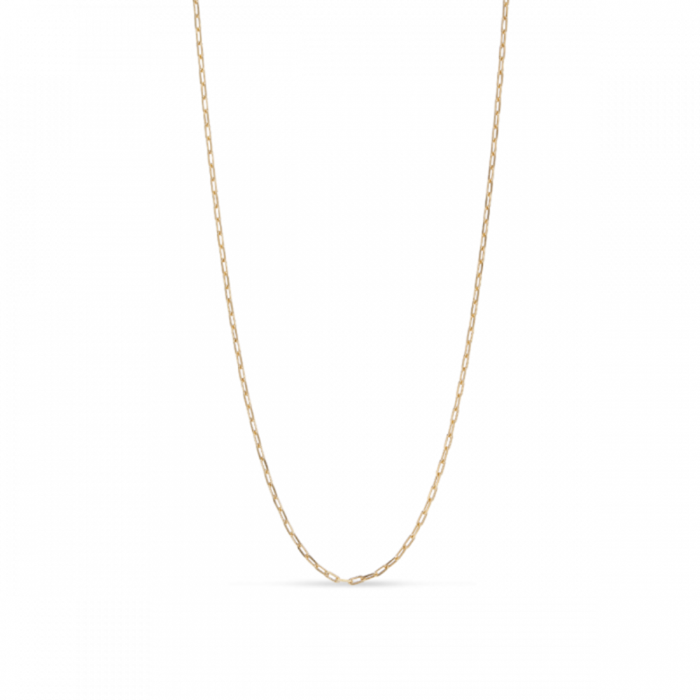 Stretched Anchor Chain Necklace Goldplated