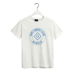 Sunset Club SS T-Shirt Egg Shell
