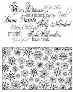 CC - Clearstamps Christmas bakgrounds & letters