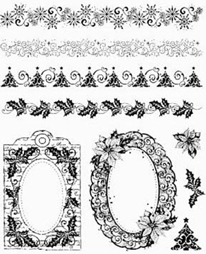 CC - Clearstamps Christmas borders & Frames