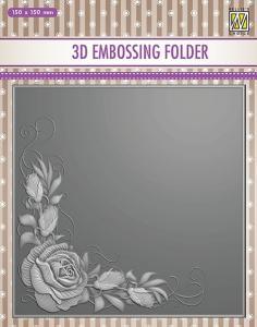 NS - 3D embossing folder Rose corner