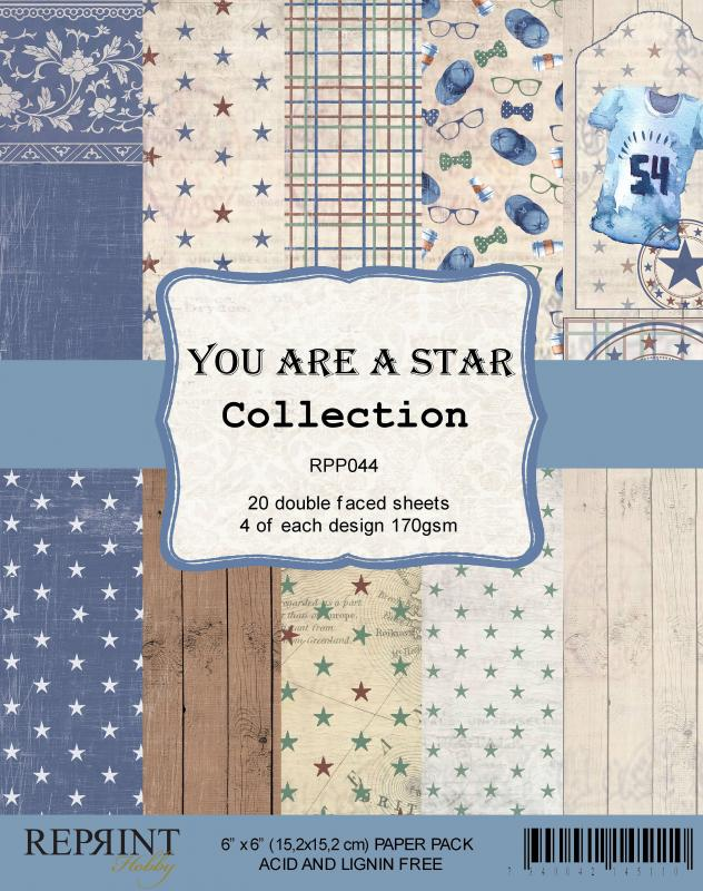 """R - You Are A Star Paper Pad 6x6"""""""