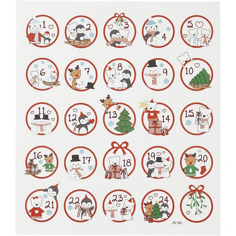 Stickers till julkalender