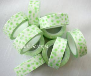 Washi - Lime prickig
