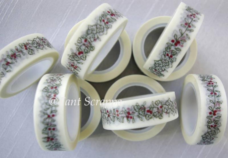Washi - Svart/röd blomma