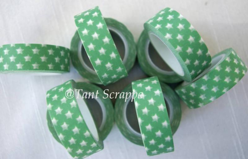 Washi - Gröna stjärnor