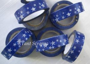 Washi - Blå stjärnor