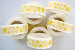 Washi - Gula stjärnor