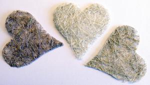 VK - Sisal hjärtan gråmix