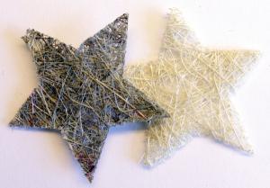 VK - Sisal stjärnor gråmix