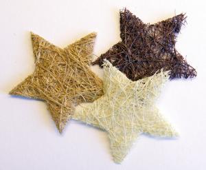 VK - Sisal stjärnor naturmix