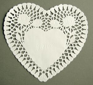Tårtpapper stort hjärta