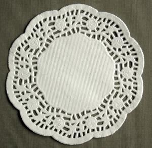Tårtpapper mellan rund