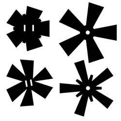 P - Acrylic Starbursts