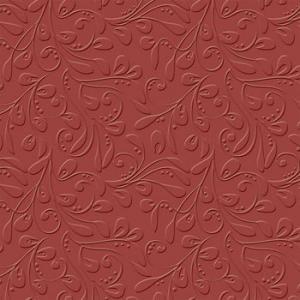 B - Embossad Cardstock Vintage Vine ruby slipper
