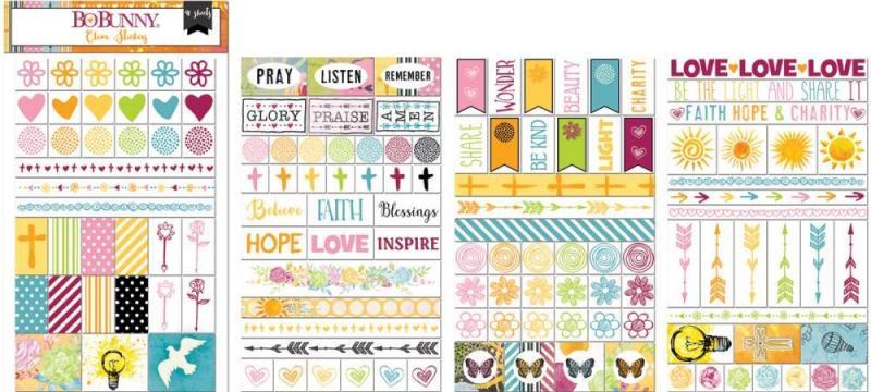 BB - Clear stickers Faith