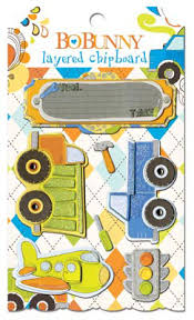 BB - On The Go layered chipboard stickers
