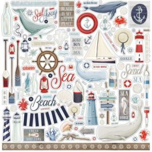 """CB - Cardstocks stickers, By The Sea 12""""x12"""""""