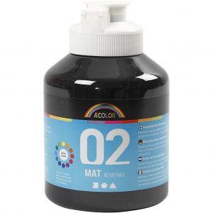 CC - Acrylfärg svart matt