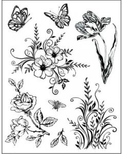 CC - Clearstamp Flowers and Butterflies