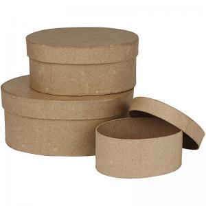 CC - Ovala pappaskar brun 4 st