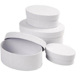CC - Oval pappask vit 4 st