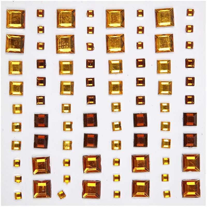 CC- Rhinestone mosaik guld